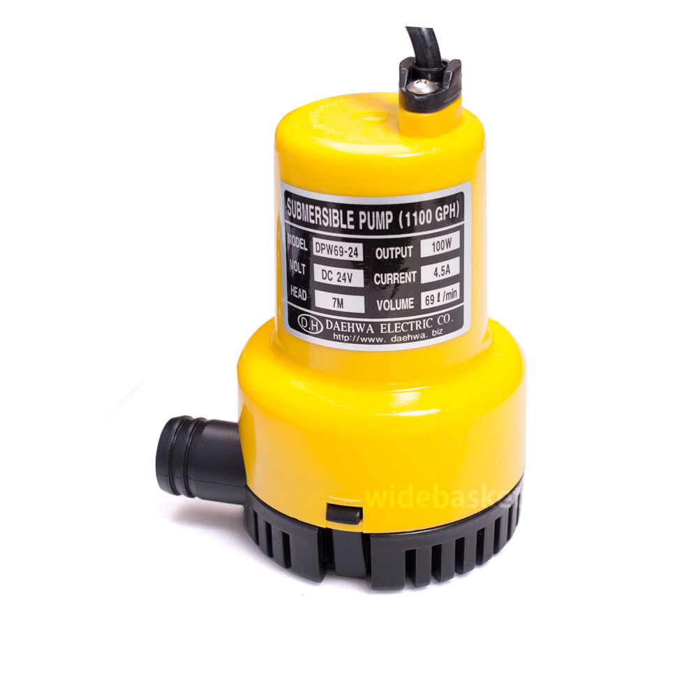 Dpw69 24 dc 24v 100w small submersible water pump 1100gph for Small pond water pump