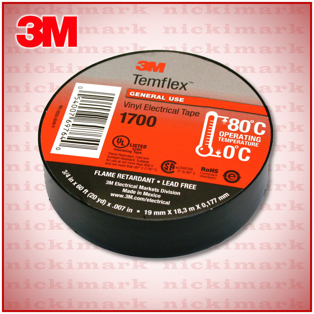 3m Temflex 1700 Flame Retardant Vinyl Electrical Tape 3 4
