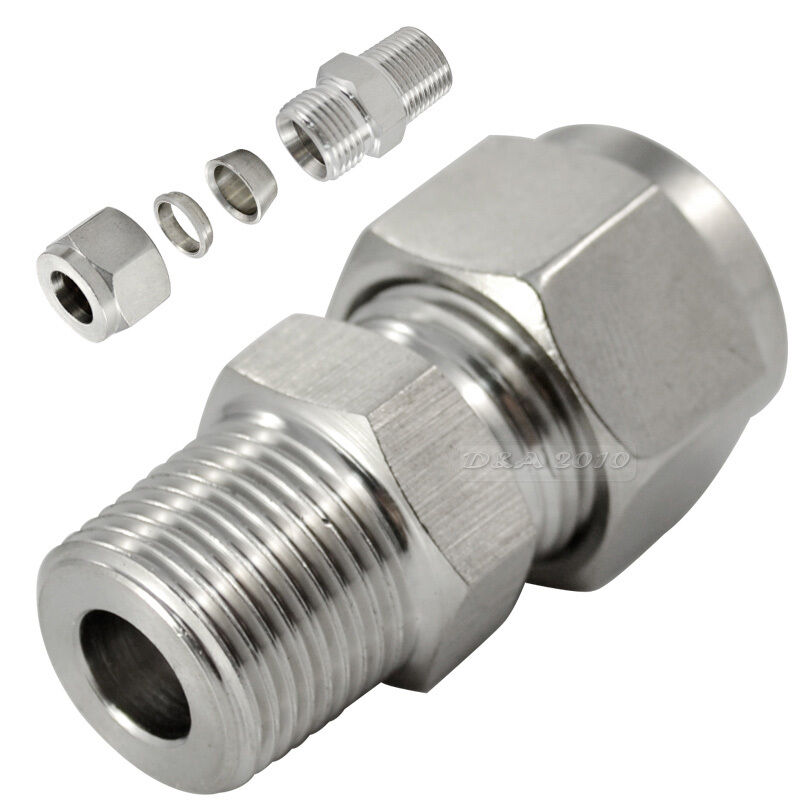 Quot nptx mm double ferrule tube fitting male connector