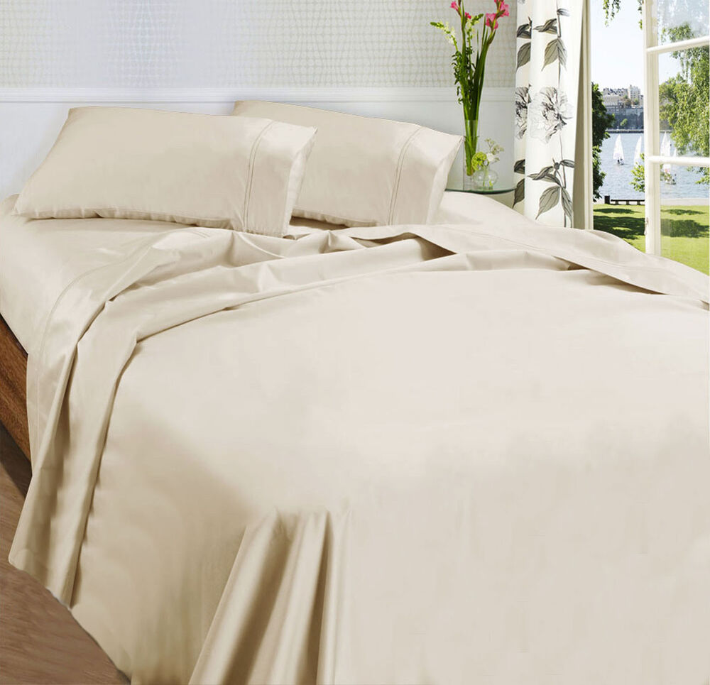 Fieldcrest King Size Bed Sheets: 875TC Egyptian Cotton Sateen Sheet Set Angora