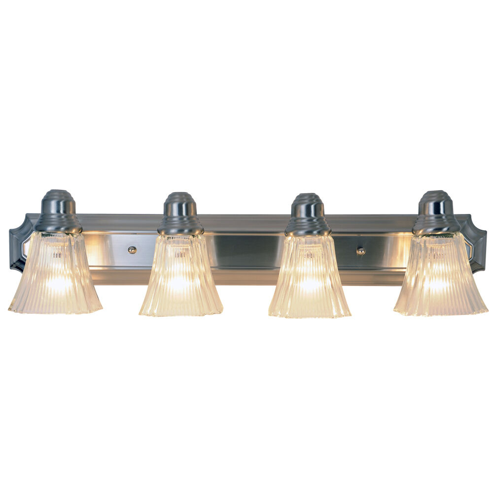 Monument lighting 617036 30 inch decorative vanity fixture for Brushed nickel bathroom lighting fixtures