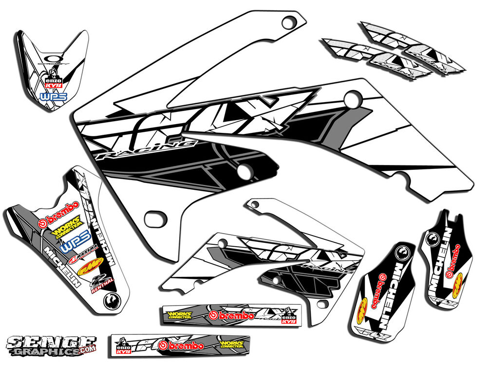 all years crf 70 graphics kit crf70 deco decals stickers