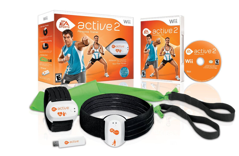 new ea sports active 2 personal trainer bundle nintendo wii heart rate monitor 14633190090 ebay. Black Bedroom Furniture Sets. Home Design Ideas