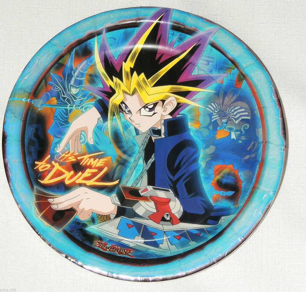 New Yu Gi Oh Blue 8 Paper Lunch Plates Party Supplies Ebay