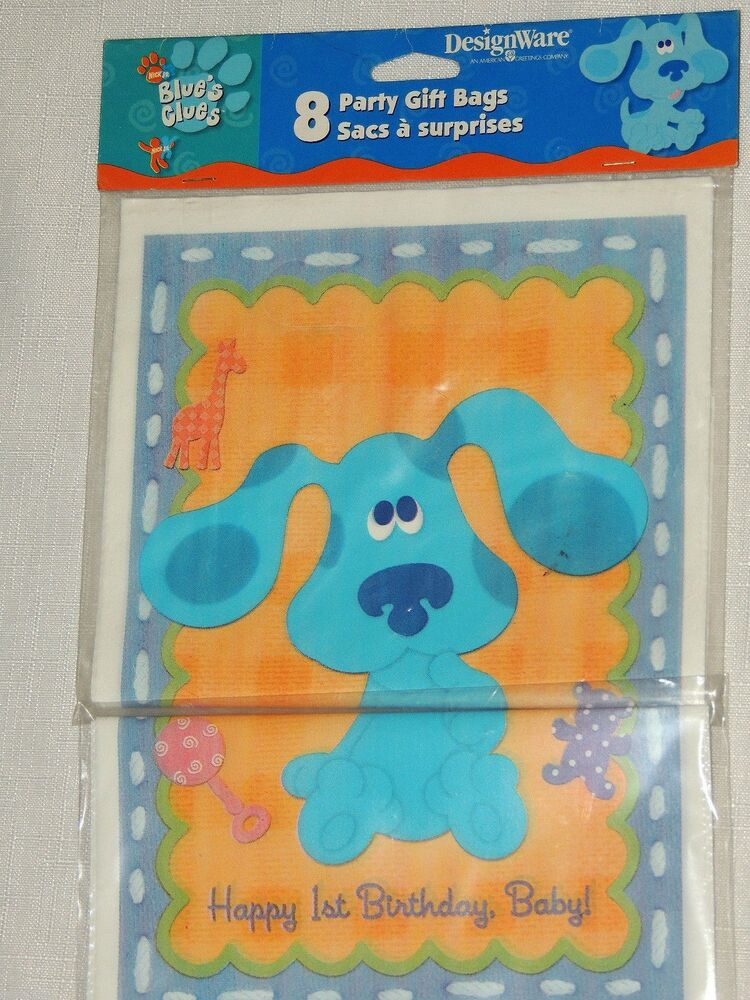 BLUES CLUES 1st BIRTHDAY 8-LOOT BAGS PARTY SUPPLIES | eBay