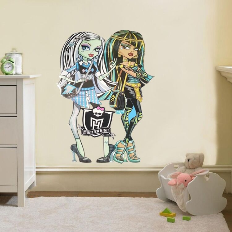 Monster High Themed Bedroom: Wall Stickers Home Decor Monster High Teenage Children