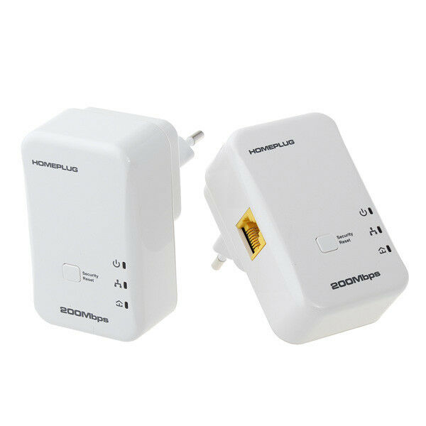 Chademo Adapter Eu D Link Wireless Ac Usb Adapter Dwa 180 Xbox One Kinect Adapter Craigslist Adapter Vga Meski Dvi Zenski: 2X 200Mbps Mini Homeplug Network Extender AV Powerline