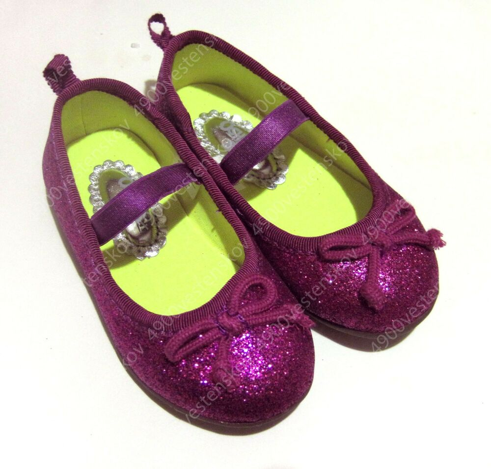 Oshkosh Gosh Baby Toddler Girl Glitter Purple Red