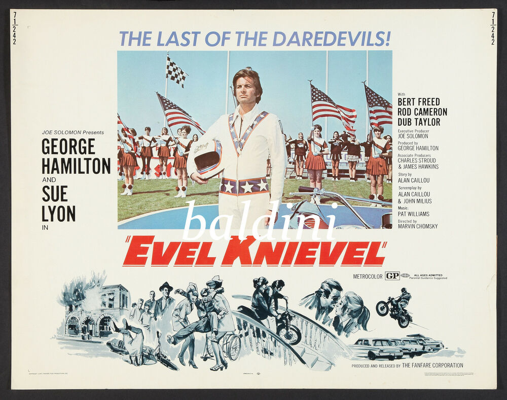 Vintage Evel Knievel In His: HIGH QUALITY EARLY VINTAGE 1971 MOVIE