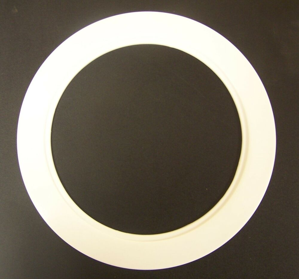 Plastic White Light Trim Ring Recessed Can 6 Quot Inch