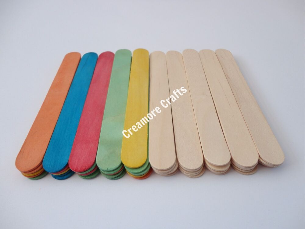 Large jumbo natural or coloured wooden lollipop ice lolly for Crafts that sell on ebay