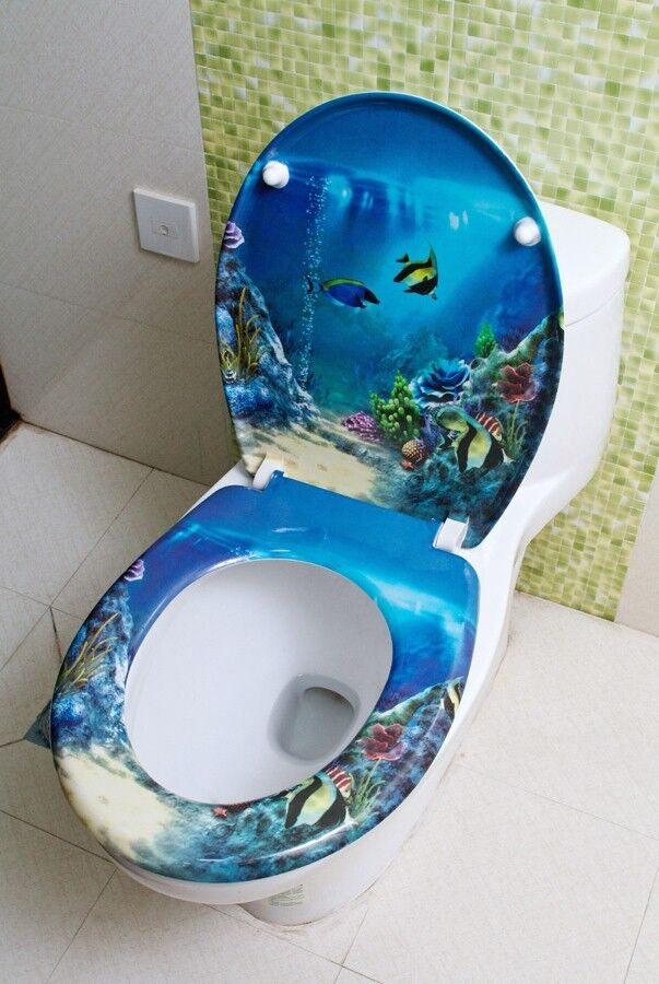 JY Underwater World Resin High Grade Printed Potty Toilet Cover Bathroom L 45