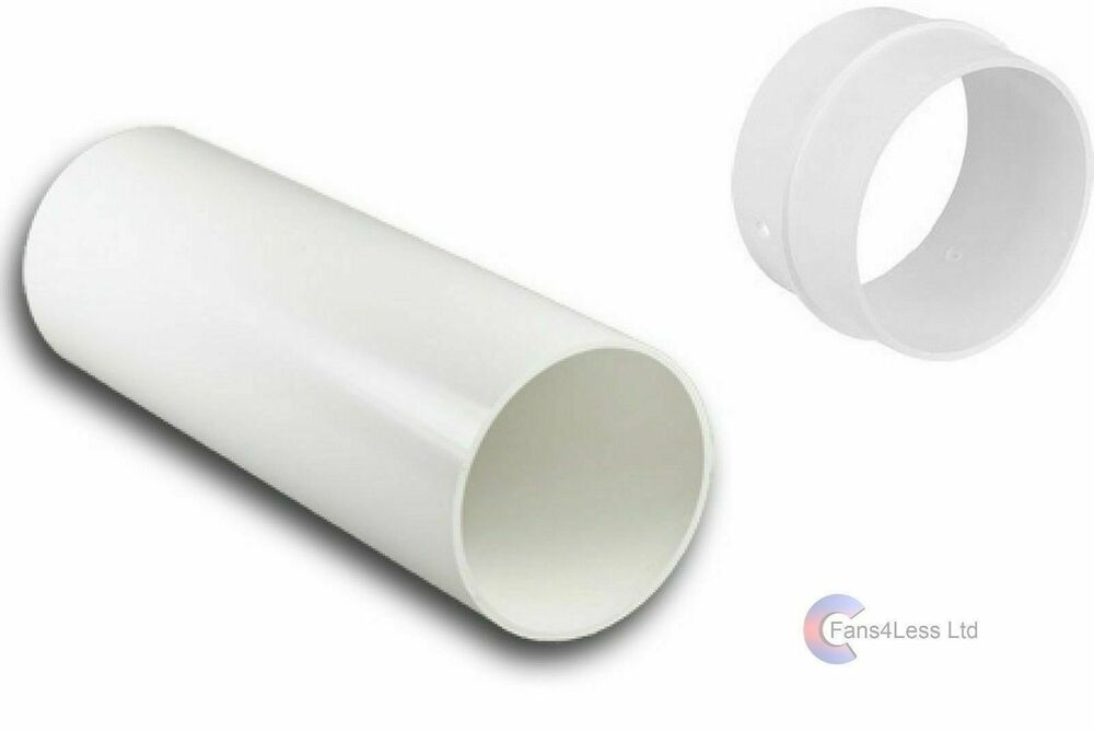 4 5 6 plastic duct round solid ducting tube pipe for 4 bathroom fan duct
