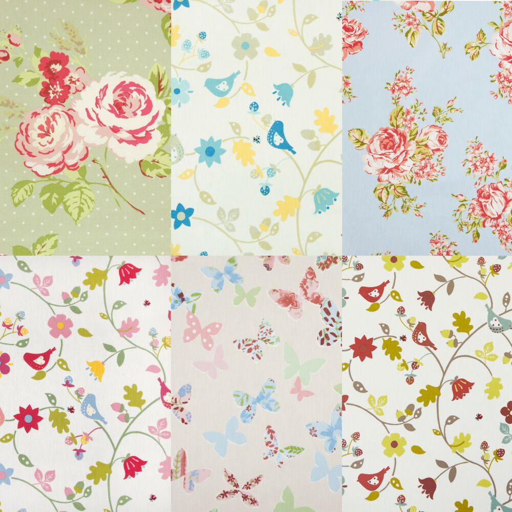 Floral Pvc Oilcloth Wipe Clean Tablecloth Cover All Sizes