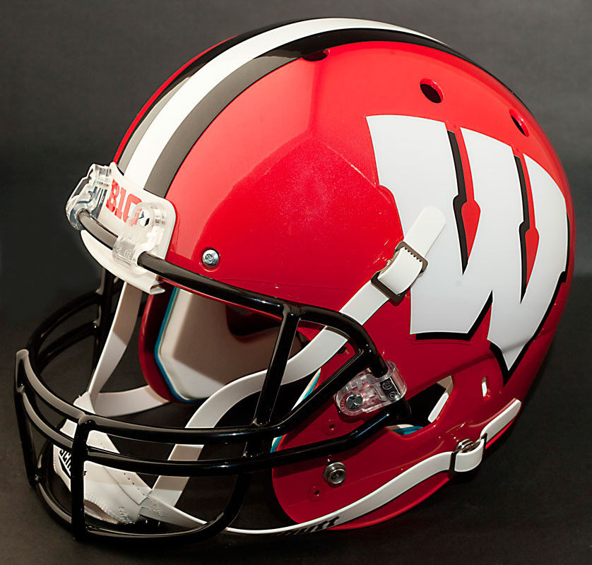 WISCONSIN BADGERS Schutt AiR XP Authentic GAMEDAY Football ...
