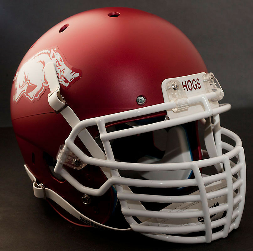 Football Helmet Grill : Custom arkansas razorbacks schutt air xp gameday