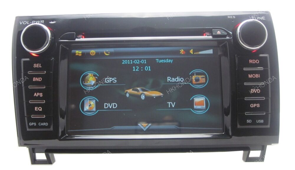 hd car dvd gps navi radio pip usb sd for toyota tundra. Black Bedroom Furniture Sets. Home Design Ideas