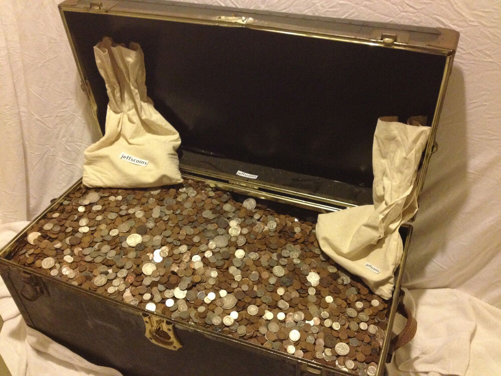 Estate Sale Lot Old Us Coins Hoard Gold Silver Bullion