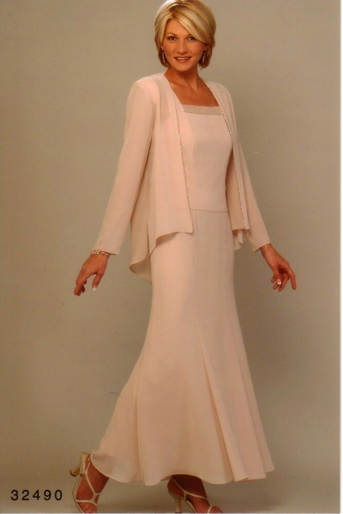 Ursula of switzerland style 32490 cameo size 14 mother for Long dress for wedding mother of the bride