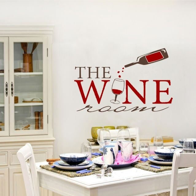 Wall Sticker Wine Room Kitchen Home Decor For House