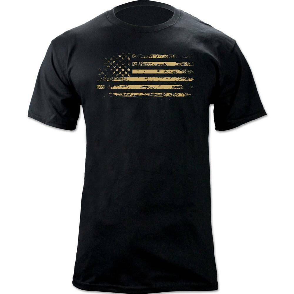 Classic distressed american flag us flag graphic t shirt for How to make a distressed shirt