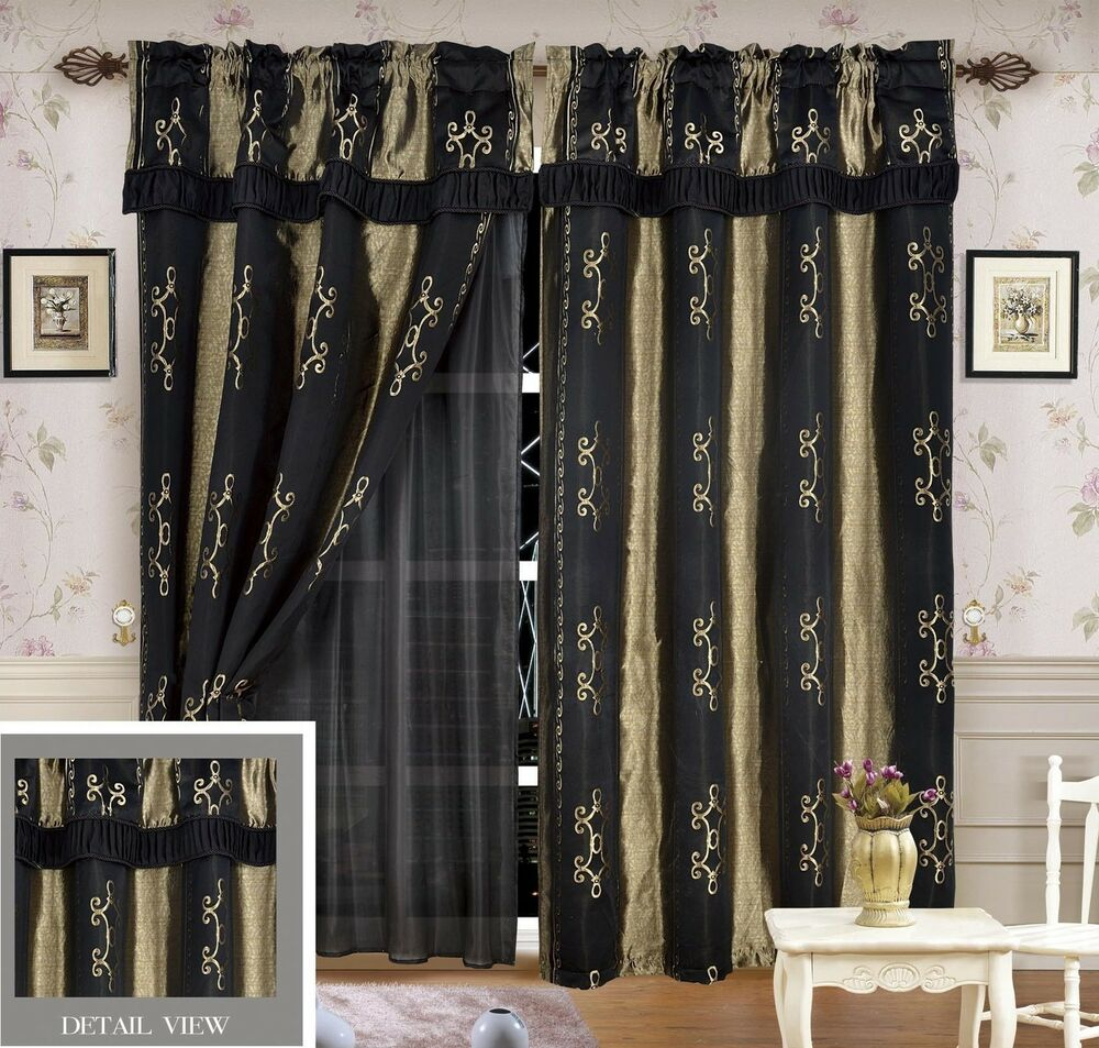 Luxury lined curtain drapes set and valance window Luxury window treatments