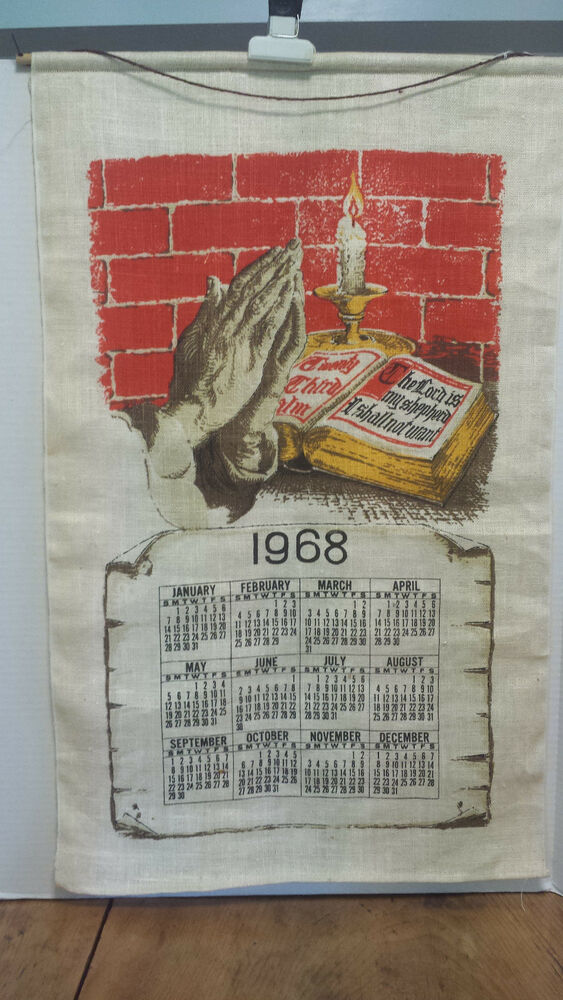 S Vintage Calendar Kitchen Towels