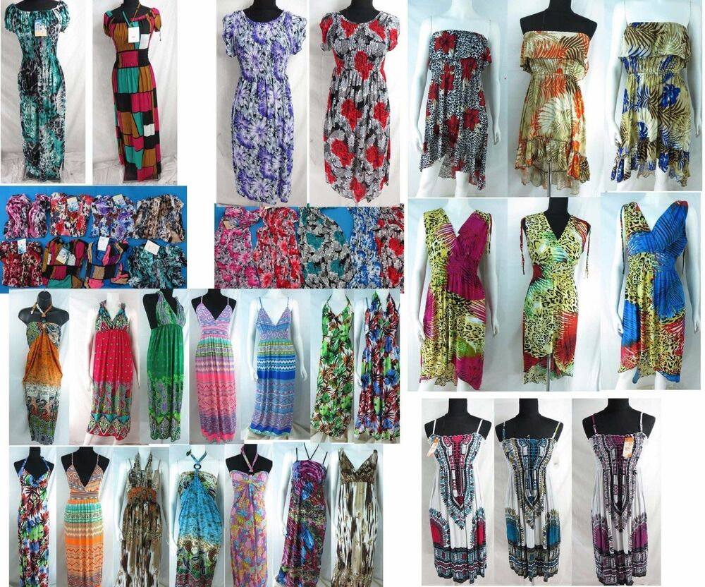 US SELLER-15 summer short dress maxi dresses women ...