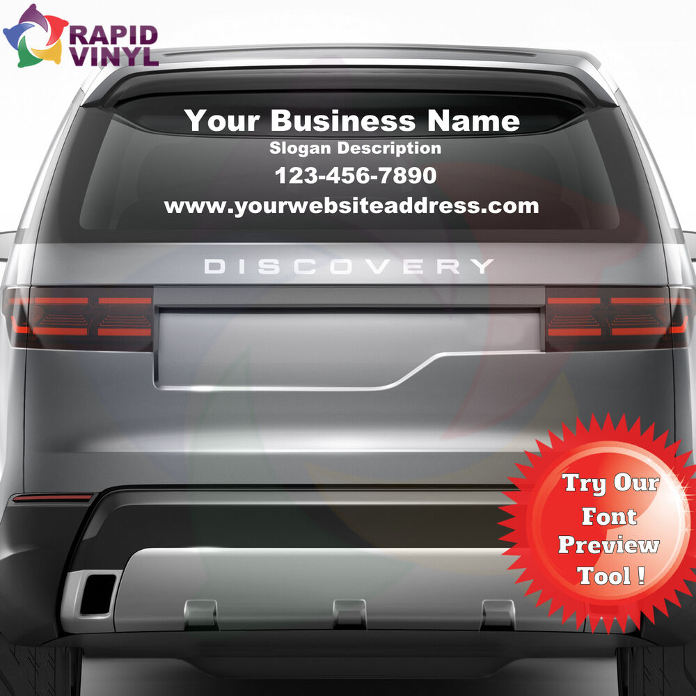 personalized custom business name vinyl window lettering decal truck car sign ebay