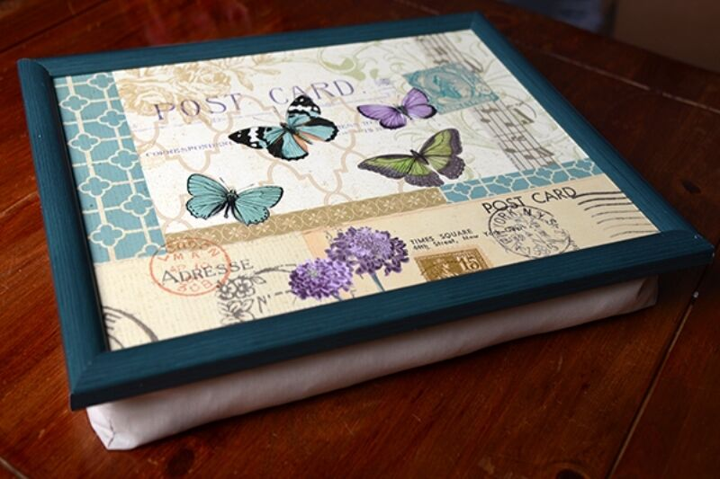 postcard butterfly bean bag cushion lap tray laptop tray. Black Bedroom Furniture Sets. Home Design Ideas
