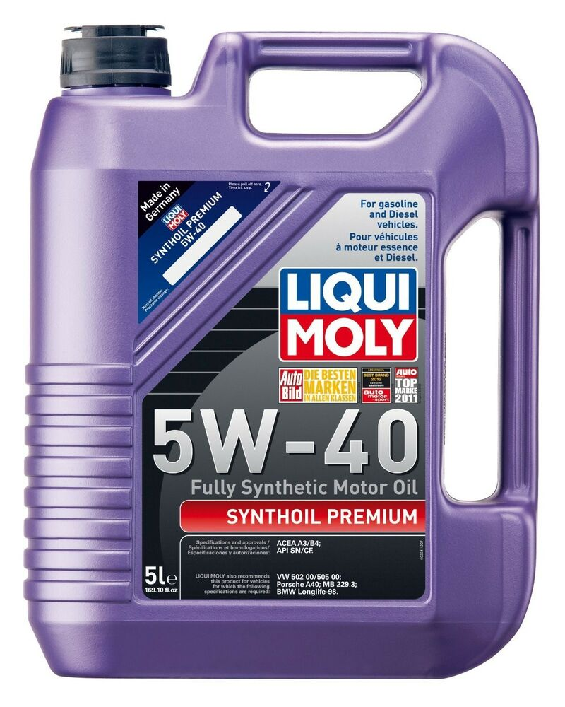 Liqui Moly Synthoil Premium 5w 40 Full Synthetic Long Life