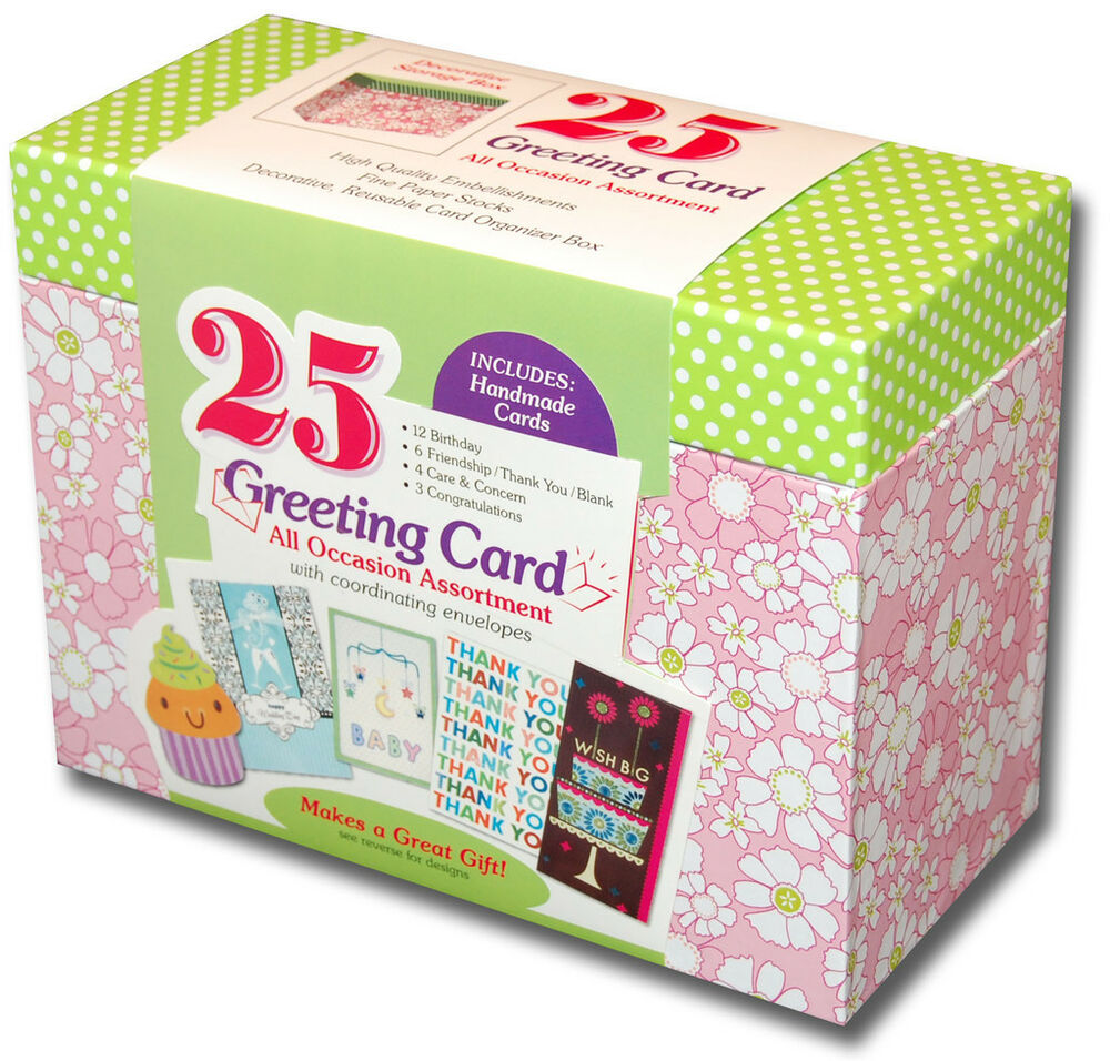 Paper Magic Box Of  Assorted All Occasion Embellished Greeting Cards Ebay