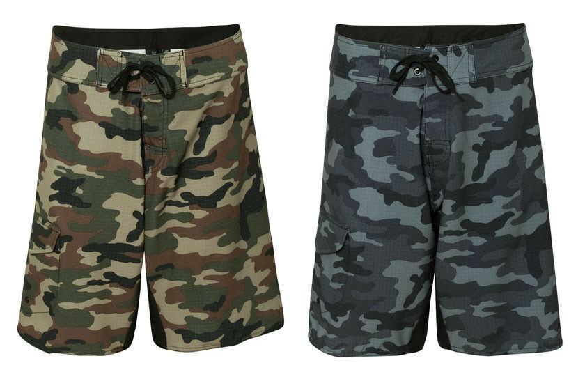 Burnside Mens Camo Diamond Dobby Board Shorts Swimwear