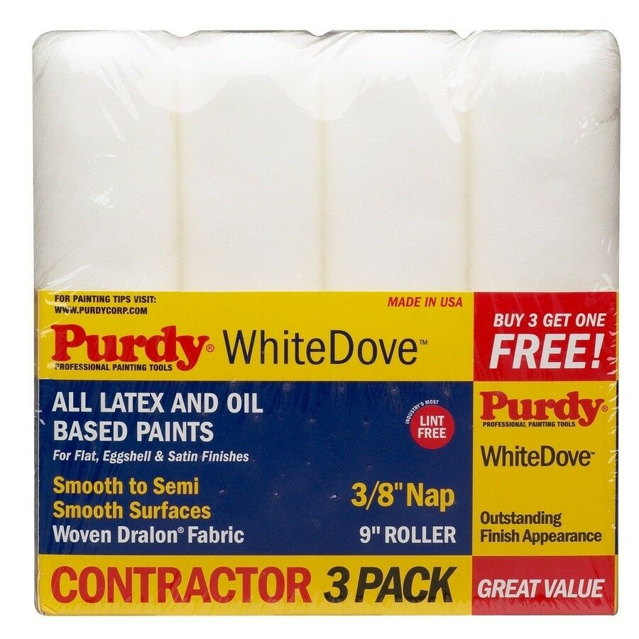 Pack White Dove Purdy Paint Rollers
