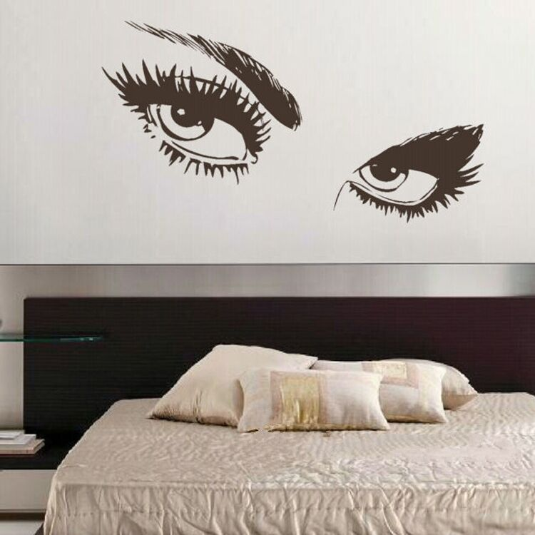 Wall Art Stickers Eyes : Audrey hepburn wall sticker sexy eyes home bedroom decor