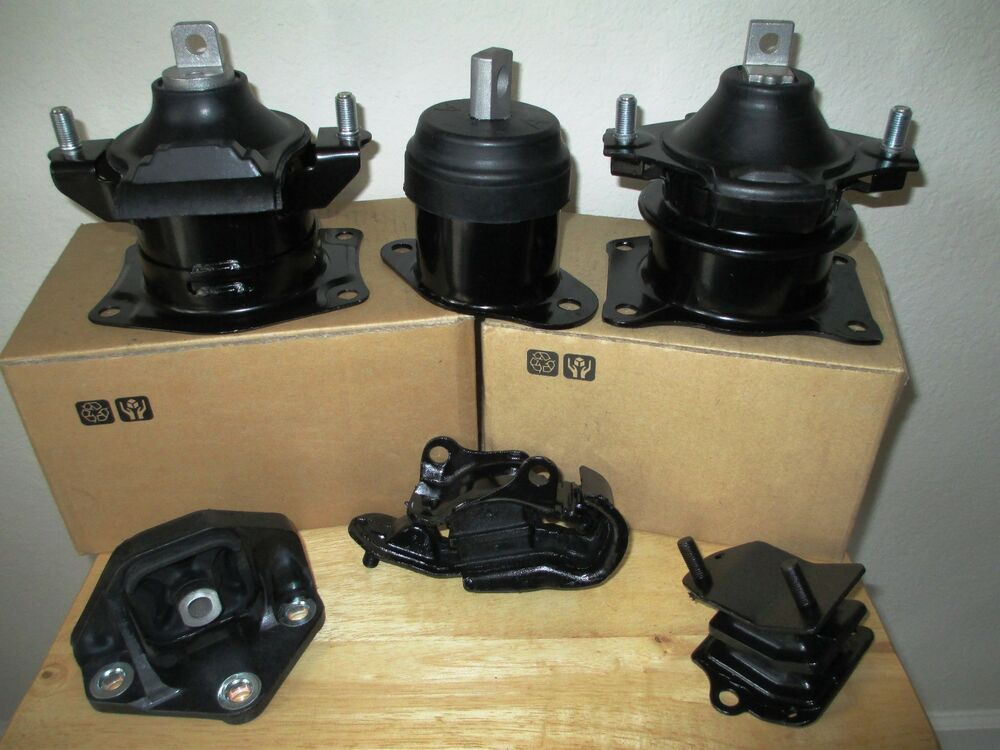 Set of 6 engine transmission mounts fits 2004 2006 acura tl 3 2l v6 a t ebay Acura motor mounts