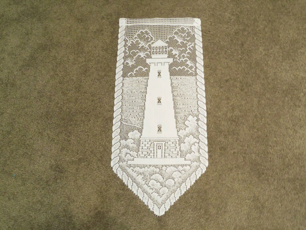 New White Lace Lighthouse Design Wall Hanging 28l X12w Ebay
