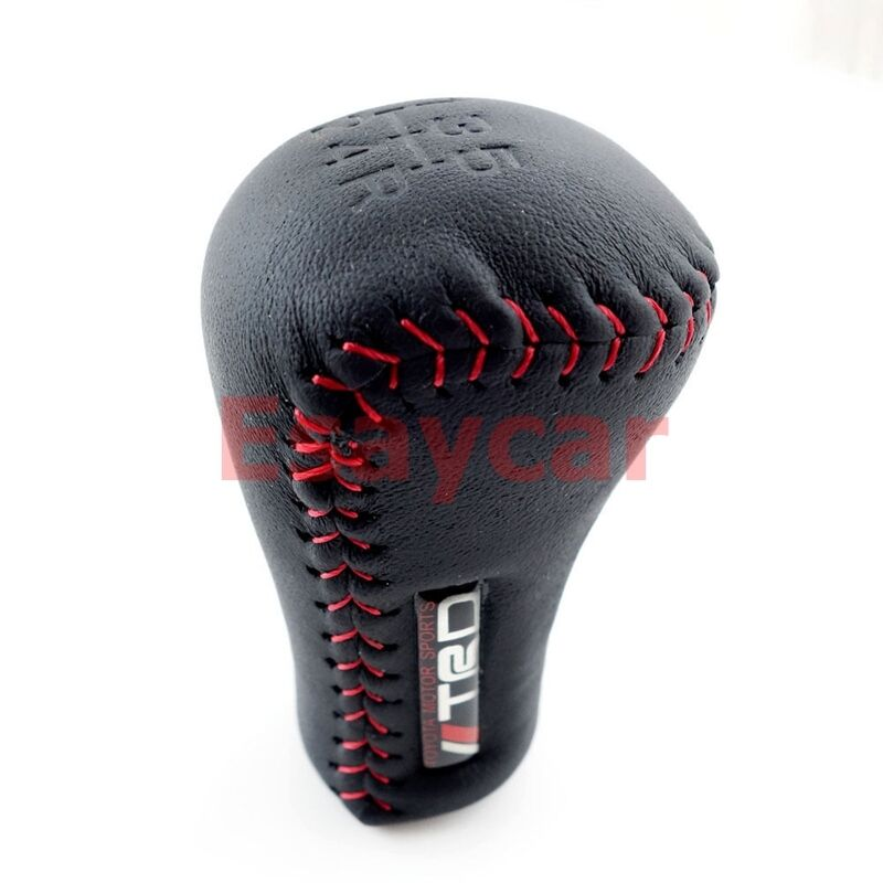 Lexus Of Tacoma >> JDM TRD Black Leather Red Stitch 5SP Manual Shifter Shift ...