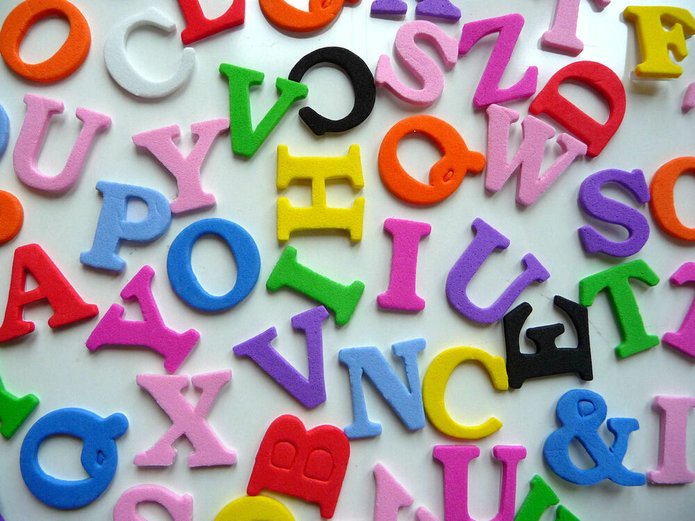 Foam alphabet capital letters self adhesive peel and stick for Self stick letters