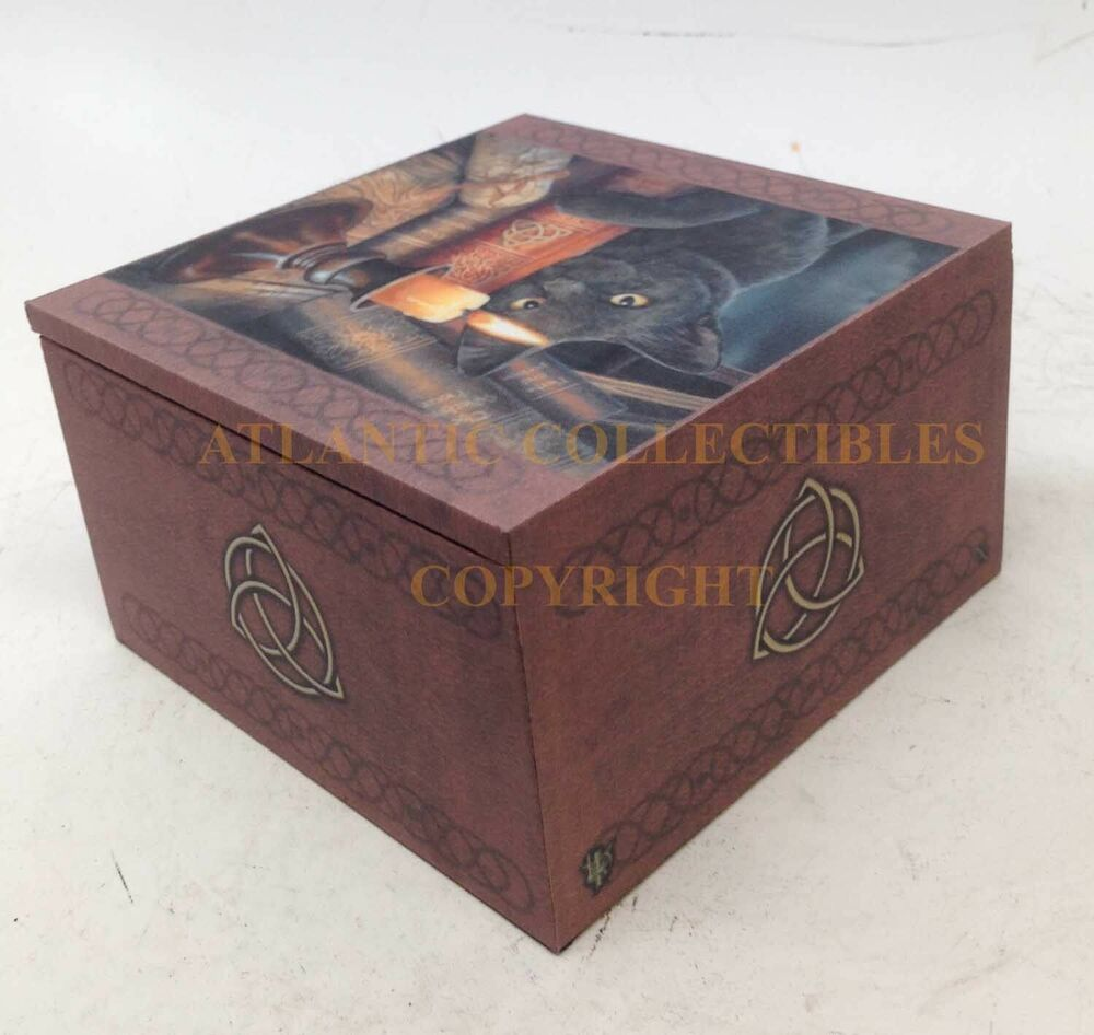 Lisa Parker Mirror Box Witchcraft Book And Black Cat