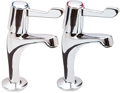 kitchen sink pillar taps lever kitchen sink pillar taps chrome pair easy use 1 4 5889