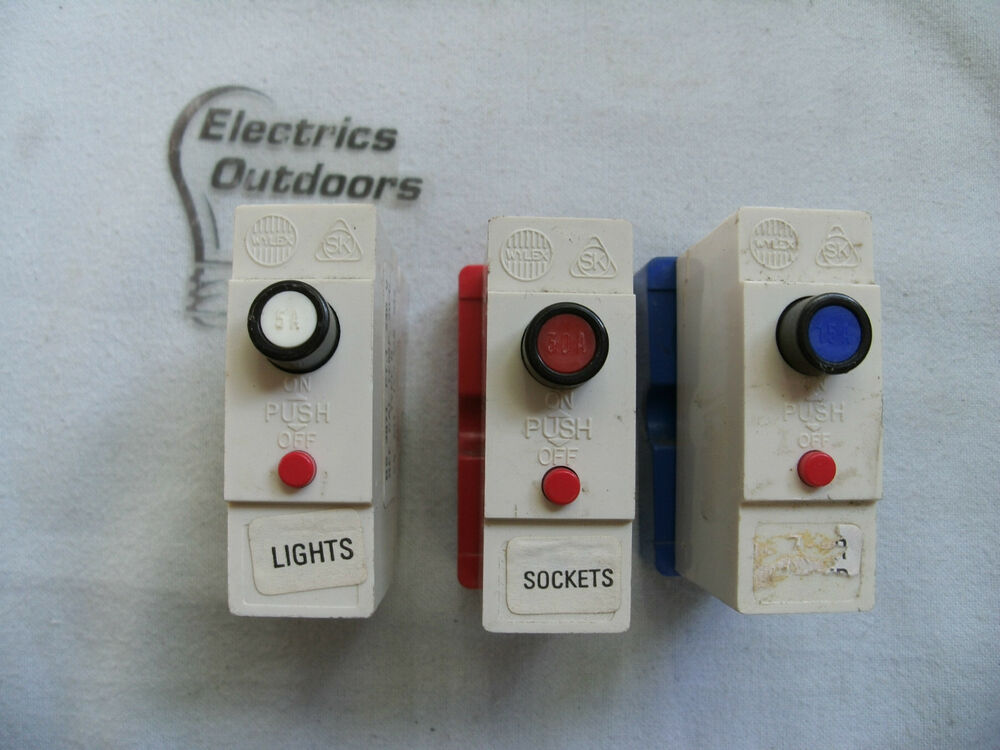 wylex push in 5 15 20 30 45 amp type b 240v mcb circuit breaker fuse ebay