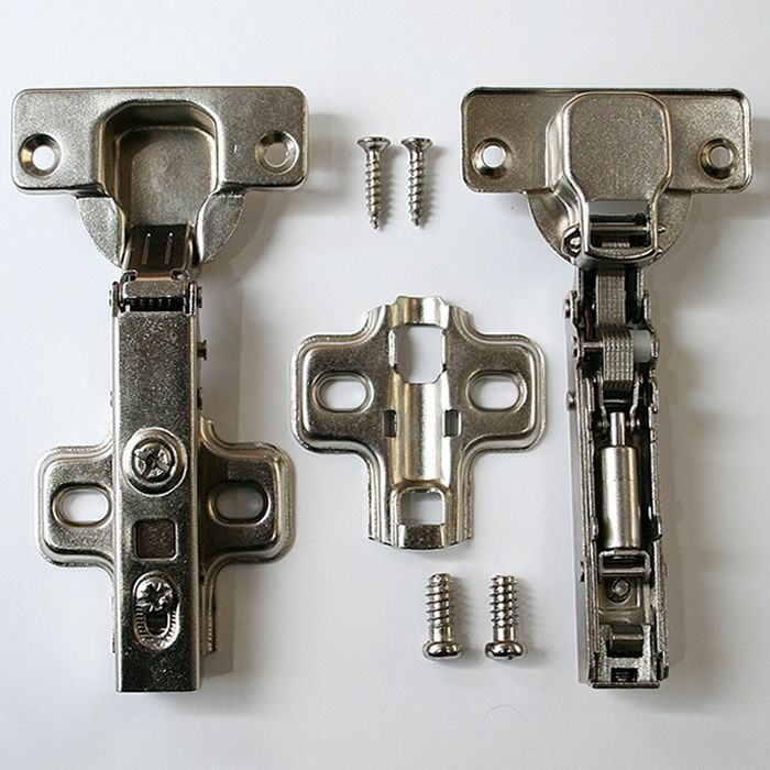 Kitchen Cabinet Soft Close Hardware: Soft Close Kitchen Cupboard Cabinet Door Hinges Slow Shut Plate Hinge & Screws