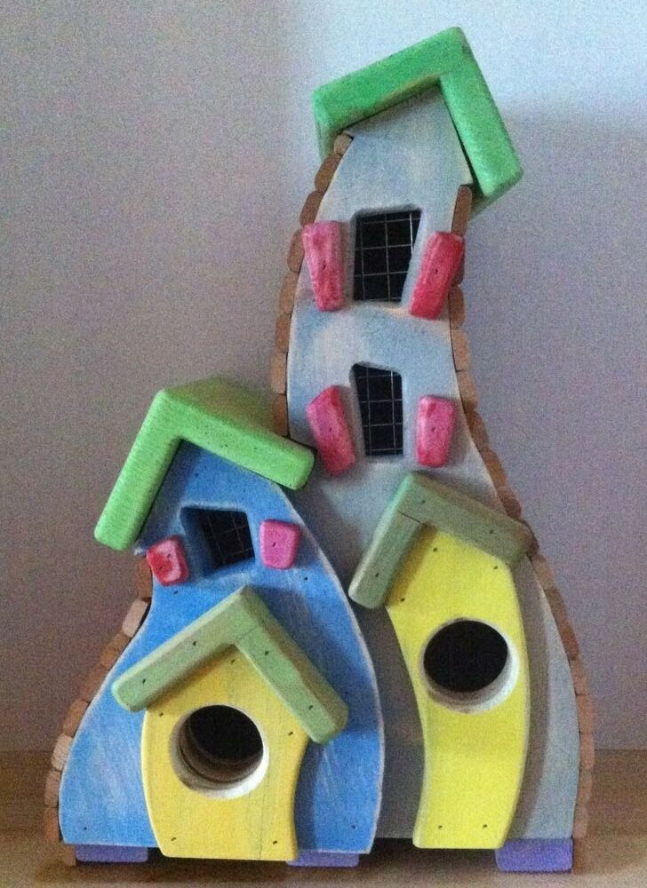 Whimsical Birdhouses *handcrafted in USA* *Independent wood worker ...