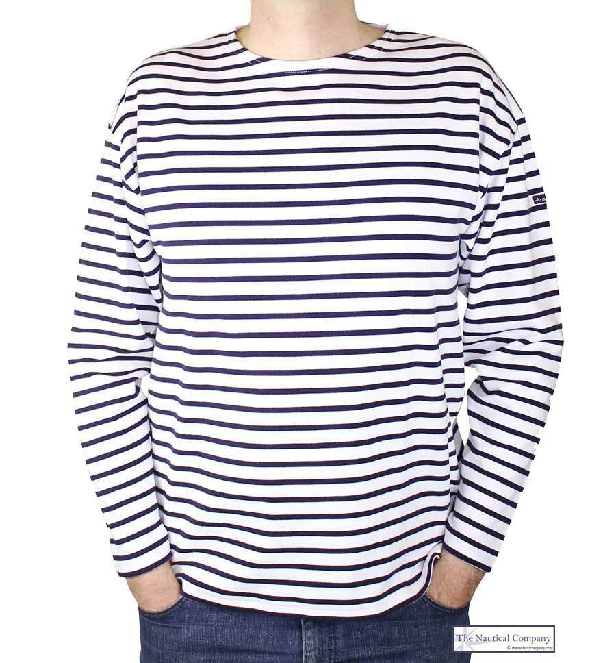 Men's striped T-shirt from Lyle & Scott. Cut from premium cotton with a soft touch, the 'Breton' top features a colour block panel to the chest and sleeves, and nautical blue stripes throughout the body to create a Breton-inspired aesthetic.