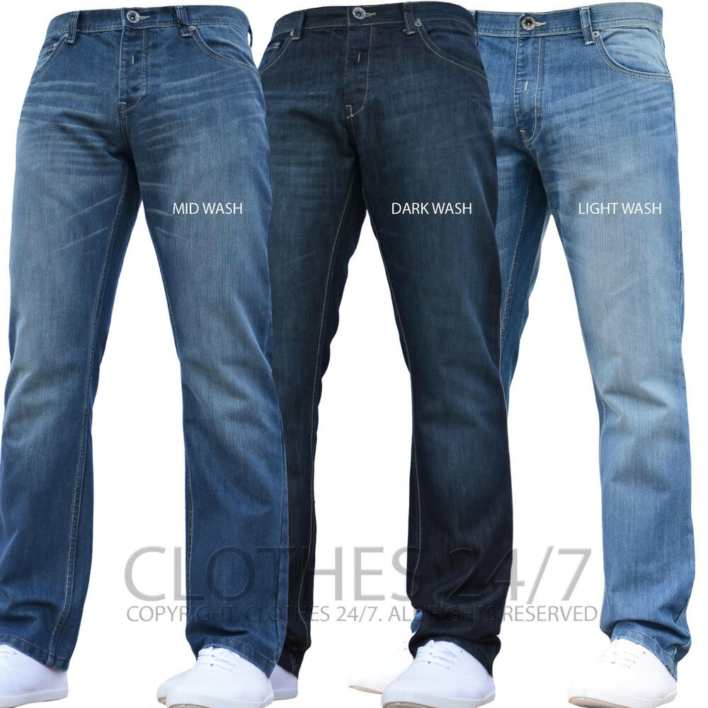 bnwt new mens enzo designer jeans pants waist size 30 32 34 36 38 40 42 44 46 48 ebay. Black Bedroom Furniture Sets. Home Design Ideas