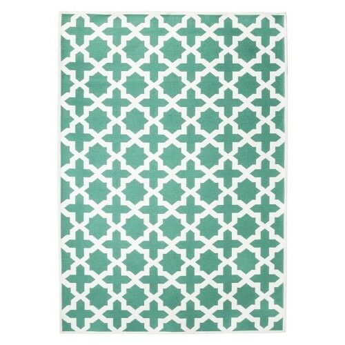 Threshold Indoor Outdoor Flatweave Area Rug Turquoise