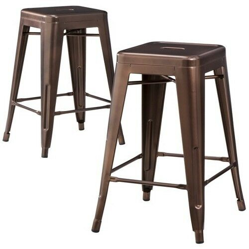 Carlisle Metal 24 Quot Counter Stool Set Of 2 Ebay