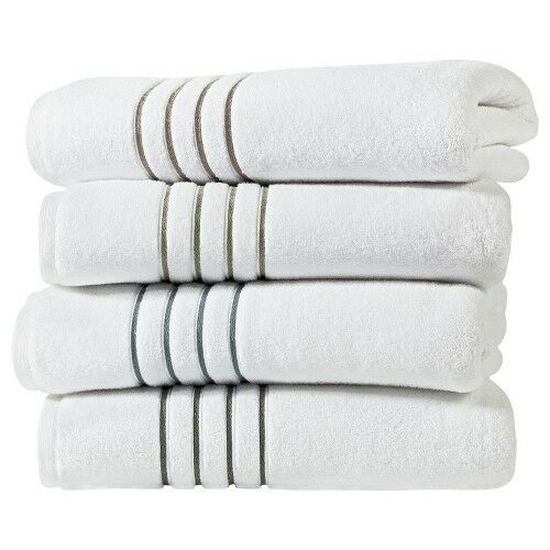 Fieldcrest Purple Towels: Fieldcrest Luxury Stripe Accent Bath Towels