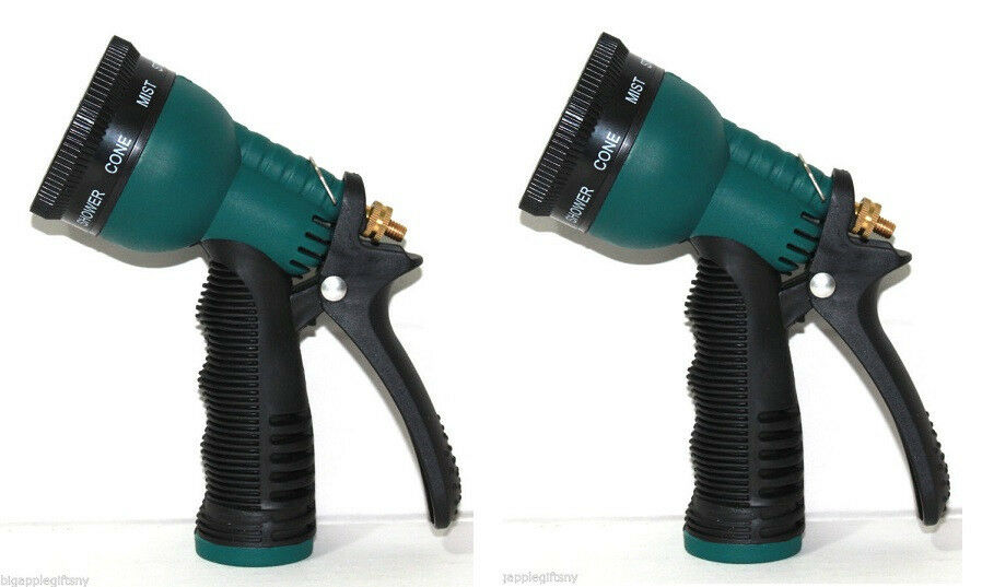 Spray Hose Nozzle: LOT 2 X Garden Water Sprayer Hose Nozzle With 8 SPRAY